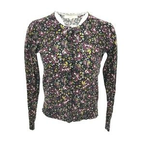 Ann Taylor Floral Button Down Sweater Sz S NWT $60